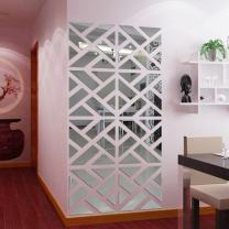 MORECON 32Pcs 3D Mirror Acrylic Wall Sticker DIY Art Vinyl Decal Home Decor Removable