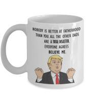 Funny Trump Head Mug - Donald Trump Coffee Cup - President Father's Day Novelty Gift Idea (11oz)