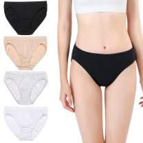 wirarpa Women's Soft 100 Cotton Underwear Panties Ladies High-Cut French Briefs Multipack