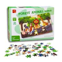 """48 Piece Jigsaw Puzzle for Kids – Every Piece is Unique, Pieces Fit Together Perfectly - Easy-Clean Surface, Promotes Hand-Eye Coordination, 24"""" L x 36"""" W"""