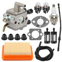 Hayskill Replacement Carburetor with Air Filter Repower Kit for Sthil FS120 FS200 FS250 FS300 FS350 FR350 FR450 FR480 String Trimmer Carb Replace 4134 120 0653 4134 120 0603