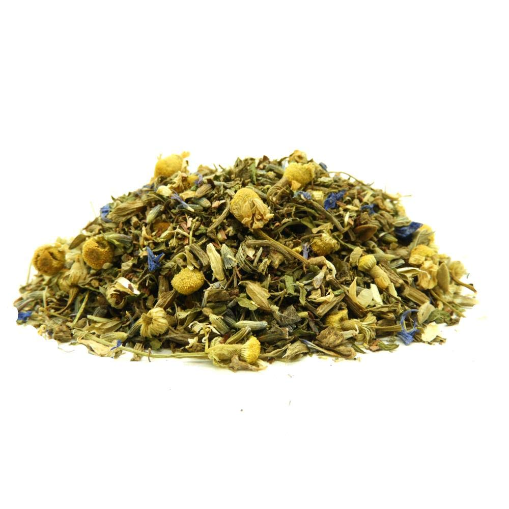 The Whistling Kettle Sleep Tea - Caffeine Free Soothing Sleep Aid Herbal Tea with Spearmint, Lemon Balm, Valerian Root - 3oz (90 servings)