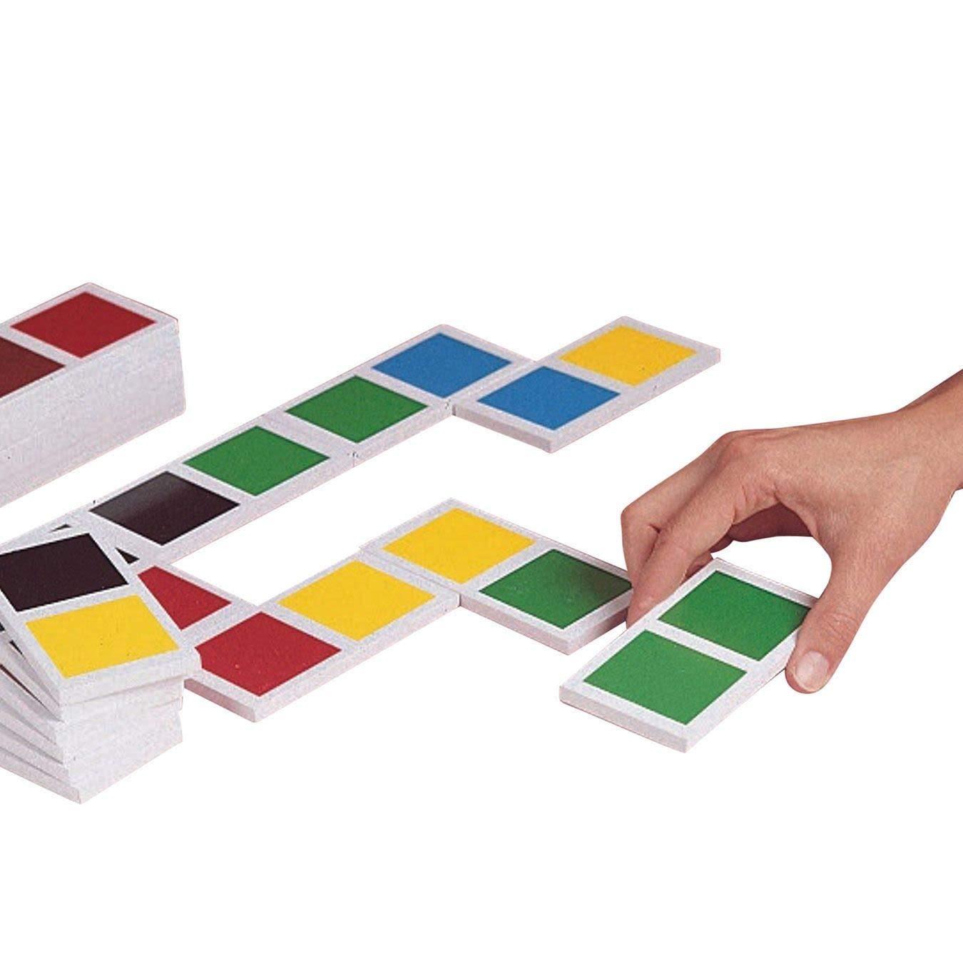 S&S Worldwide Jumbo Color Dominoes Set of 28