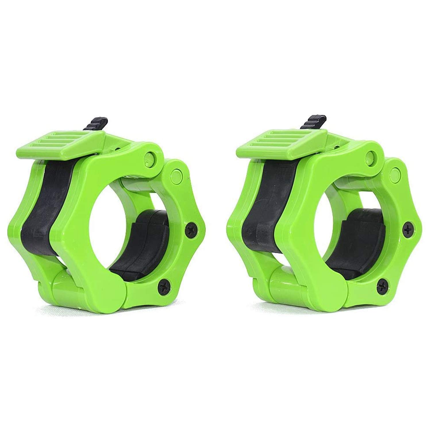 """TOFEIC 2"""" Olympic Size Quick Release Barbell Clamps 2 inch Weights Bar Bumper Plates Lock Collars Clips Great for Gym Crossfit Wrokout Muscle Fitness PRO Training"""