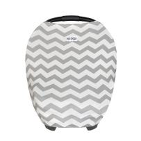 Black White Chevron Baby Car Seat Covers-Nursing Cover Breastfeeding Scarf-Infant Stroller Cover,Carseat Canopy for Girls and Boys-Perfect Baby Shower Gift by TSD STORY(Black White Chevron)