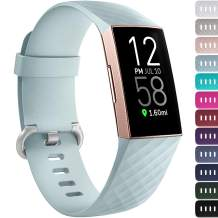 Ouwegaga Bands Compatible for Fitbit Charge 4 and Charge 3 Water Resistant Fitness Wristbands Combo