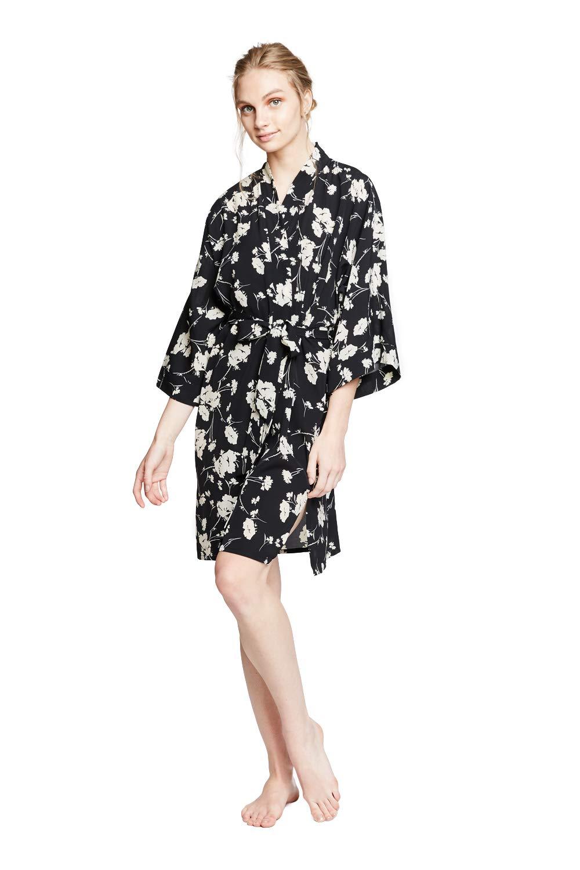 KIM+ONO Women's Crepe Kimono Robe Short - Floral