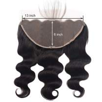 """Alipearl Hair 13x6 Lace Frontal Ali Pearl Ear to Ear Lace Frontal 8A Unprocessed Virgin Human Hair Extentions Ali Pearl Hair(13x6frontal 14"""")"""