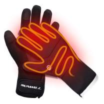 Heated Gloves,Men Women Rechargeable Electric Arthritis Hand Warmer Heated Ski Gloves Mittens, Snow Winter Warm Outdoor Cycling, Motorcycle, Hiking, Snowboarding
