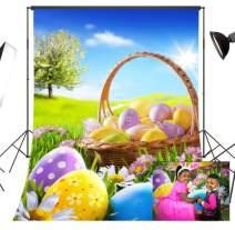 LB 5x7ft Easter Vinyl Photography Backdrop Color Eggs Customized Floral Photo Background Studio Prop Decor FHJ17