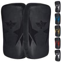 Elite Sports Muay Thai Kickboxing Pads MMA Knee and Elbow Target Kicking Strike Shield Pair for Martial Arts