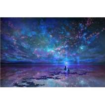 Diamond Painting Kits for Adults Kids, 5D DIY Starry Sky Diamond Art Accessories with Round Full Drill for Home Wall Decor - 15.7×11.8Inches