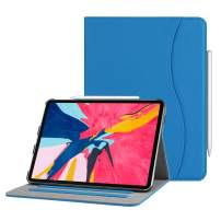 """Fintie Case for iPad Pro 11"""" 2018 [Supports 2nd Gen Pencil Charging Mode] - Multi Angle Viewing Folio Cover with Pocket [Secure Pencil Holder] Auto Sleep/Wake for iPad Pro 11 2018, Royal Blue"""