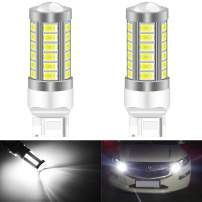 KATUR 2pcs 7440 7440NA 7441 992 5630 33-SMD White 900 Lumens 8000K Super Bright LED Turn Tail Brake Stop Signal Light Lamp Bulb 12V 3.6W