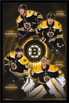 "Trends International NHL Boston Bruins - Team 17 Wall Poster, 22.375"" x 34"", Black Framed Version"