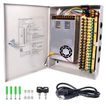 CCTV Power Supply 18CH Channel Port Box, LETOUR Distributed Power Supply Output 12V 30 Amp, for CCTV DVR Security System and Cameras