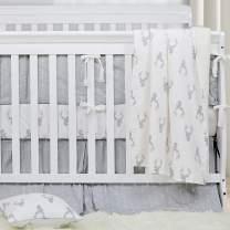 Brandream Deer Arrow Woodland Crib Bedding Set for Boy, Girl and Unisex Nursery - Baby Blanket, Fitted Crib Sheet, Crib Skirt Included