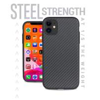 Evutec Karbon iPhone 11 6.1 Inch, Unique Hard Smooth Heavy-Duty Phone Case Cover Real Aramid Fiber Strong Protective Slim 1.6mm Durable (Black)-AFIX+ Free Vent Mount