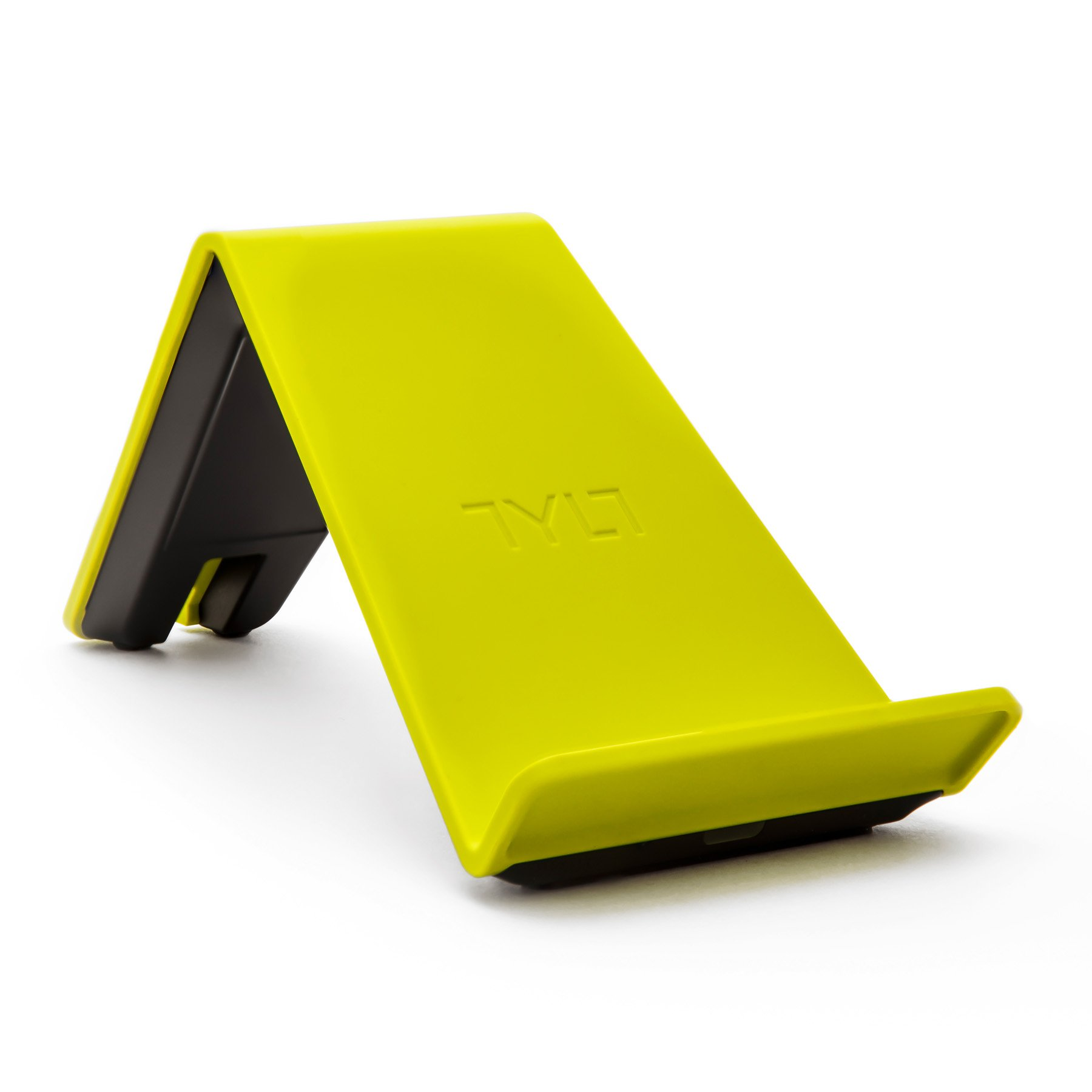 TYLT VU Qi Wireless Phone Charging Pad (Yellow, 3 Coil) Tilted Stand & Fast Battery Charger Station for Compatible iPhone, Samsung, Google, Android & Qi-Enabled Cell Phones