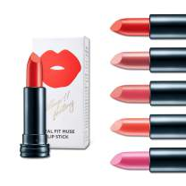 Lovely Makeup with Muse Lipstick, Semi-Matte Lipstick Finish, Long Lasting Lipstick, Vivid and Brilliant Colors, Soft Texture, Natural Oils, Cruelty Free by Village 11 Factory (Coral Crush)