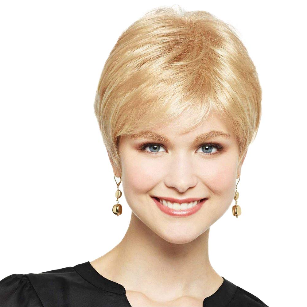 BLONDE UNICORN Short Hair Wigs for Women Pixie Cut Human Hair Mixed Synthetic Hair Wig(#18/613)