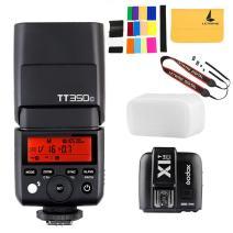 GODOX TT350C Mini Flash TTL HSS 1 / 8000s 2.4G Wireless with X1T-C Flash Trigger Transmitter 2.4G Wireless Remote Transmitter Compatible for Canon Mirrorless Camera