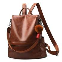 Women Backpack Purse Leather Anti-theft Casual Travel Shoulder Bag for Ladies