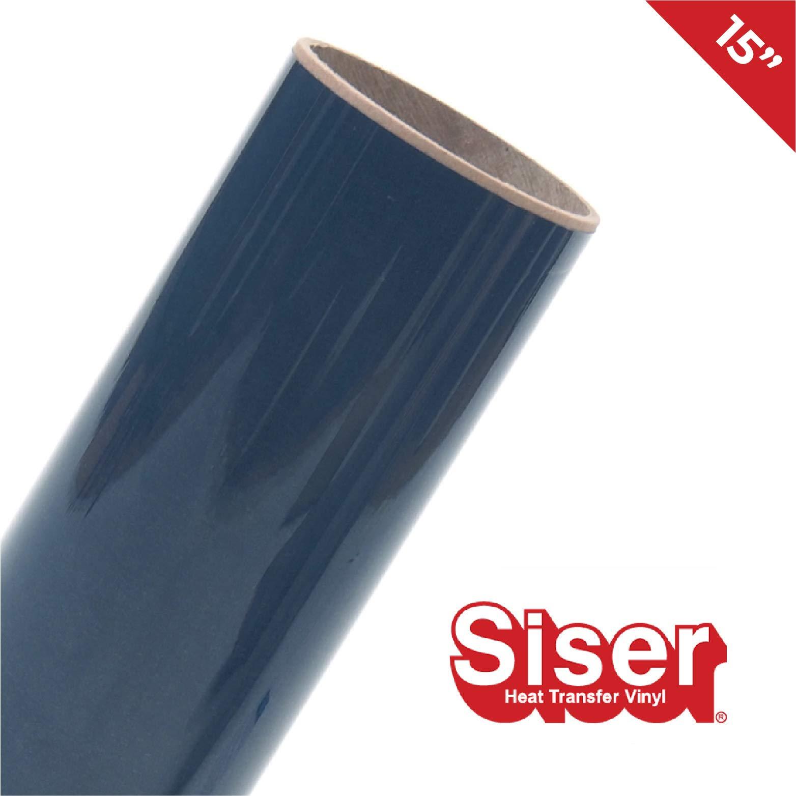 """Siser EasyWeed HTV 15"""" x 20ft Roll - Iron on Heat Transfer Vinyl (Navy Blue)"""
