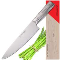 MATTSTONE HILL Chef Knife 9 Inch - Professional Kitchen Knife Heavy Duty Cooking Knife, High Carbon Stainless Steel Blade Cook's Knives Ergonomic 304 Handle Cutlery for Home Kitchen and Restaurant