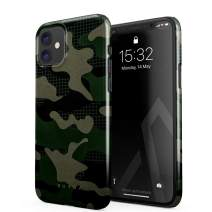BURGA Phone Case Compatible with iPhone 11 - Jungle Military Green Camo Camouflage Cute Case for Women Thin Design Durable Hard Plastic Protective Case