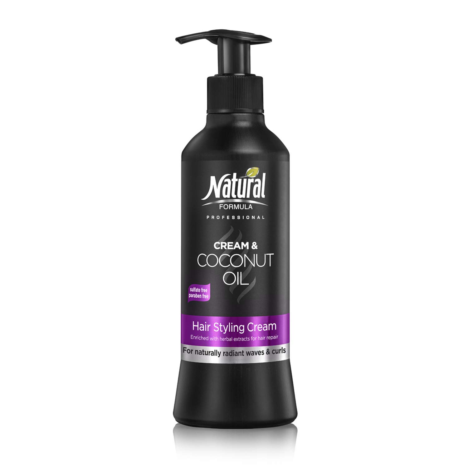 Natural Formula Professional Hair Moisturizer With Coconut Oil For Healthy, Frizz-Free & Naturally Glowing Curls and Waves Paraben and Sulfate Free 13.5 Fl Oz
