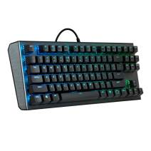 Cooler Master CK530 Tenkeyless Gaming Mechanical Keyboard with Brown Switches, RGB backlighting, On-the-fly CONTROLS, and Aluminum Top Plate