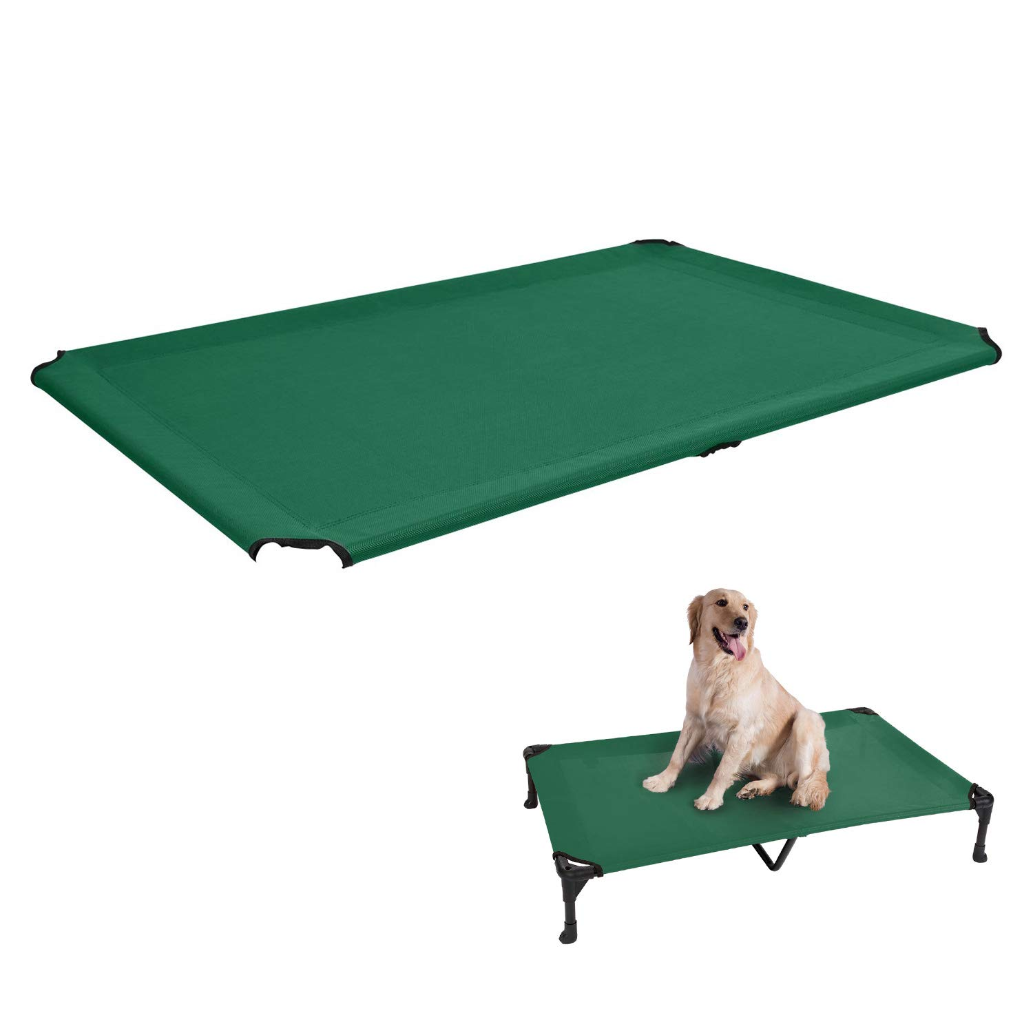 Veehoo Cooling Elevated Dog Bed Replacement Cover, Washable & Breathable Pet Cot Bed Mat, 4 Sizes & 7 Colors in Available