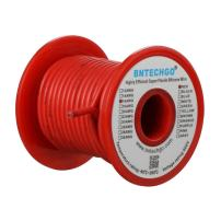 BNTECHGO 16 Gauge Silicone wire spool 50 ft Red Flexible 16 AWG Stranded Tinned Copper Wire
