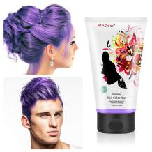 Fun Temporary Hair Color Wax Wash Out Hair Color Hair Dye Wax Hair Styling&Coloring Hair Wax for Halloween- Wash Off Easily - Fast Coloring on - Zero Damage to Hair (PURPLE)