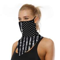 Aoty Ear Hangers Mask Seamless Bandanas for Rave Face Mask Dust Wind UV Sun,Headband Neck Gaiter Bandanas,Motorcycle Face Mask Bandanas for Women Men Bandanas American Flag