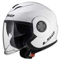 LS2 Helmets Open Face Verso Helmet (Glossy White - X-Small)