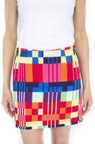 GOLFTINI Women's Multicolor Geometric Perfomance Stretch Golf Skort | Rum Runner