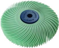 """Dedeco Sunburst - 3"""" TC 6-PLY Radial Bristle Discs - 1/4"""" Arbor - Industrial Thermoplastic Rotary Cleaning and Polishing Tool, Ultra-Fine 1 Micron (1 Pack)"""