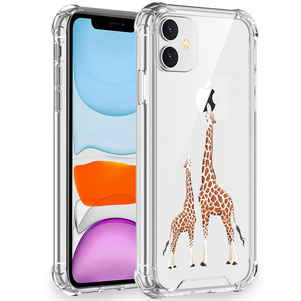 Artemiss iPhone 11 Case 2019,Shockproof Series Hard PC+ TPU Transparent Bumper Protective Case for iPhone 11 6.1 Inch -(Giraffe)