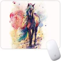 Marphe Mouse Pad Mousepad Non-Slip Rubber Gaming Mouse Pad Rectangle Mouse Pads for Computers Laptop (Watercolor Horse)
