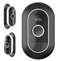 Wall Mount Bracket Cover UV & Weather Resistance Wall Plate for Arlo Audio Doorbell - Black