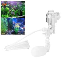 Zyyini Aquarium Water Filler, Plastic Auto Water Level Controller Adjustable Float Valve Easy to Install and Use in 1.9 cm Wall Thickness of Fish Tank