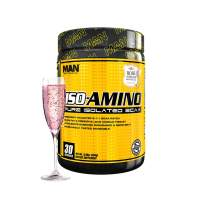 Man Sports Iso Amino Pure Isolated BCAA. Fat Burning Rose Champagne Flavored BCAA Powder for Muscle Recovery and Lean Muscle Growth (30 Servings)