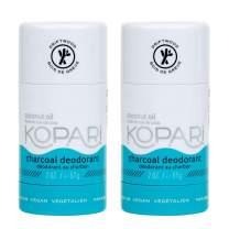 Kopari Aluminum-Free Deodorant Charcoal | Non-Toxic, Paraben Free, Gluten Free & Cruelty Free Men's and Women's Deodorant | Made with Organic Coconut Oil | 2 Pack, 2.0 oz