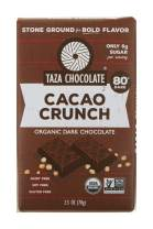 Taza Chocolate Organic Amaze Bar 80% Stone Ground, Cacao Crunch, 2.5 Ounce (1 Count), Vegan