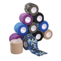 """Disposable Cohesive Tattoo Grip Cover Wrap,Self Adherent Wrap,Self Adhesive Tape,Cohesive Bandage Tape,New Star Tattoo 12pcs 2""""x 5 Yards,Elastic Bandage Handle Grip Tube for Tattoo Machine Grip"""