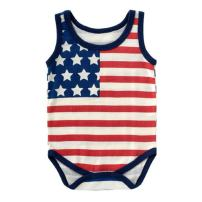 WINZIK 4th of July Baby Boy Girl Bodysuit Shirt Outfit American Flag Romper Jumpsuit Infant Kids Patriotic Clothing