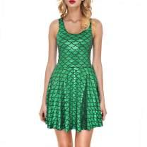 JFEELE Womens Mermaid Dress Sleeveless Short Tank Dresses