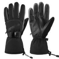 SoTeer Winter Warm Gloves for Men Waterproof Ski Gloves Winter Outdoor Sport Windproof Snow Gloves